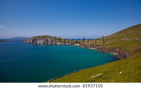 Dunmore head and beach in Coumeenoole Bay, Dingle Peninsula, Ireland.