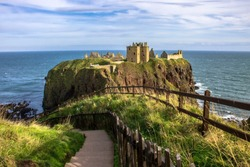 Dunnottar Castle. An amazing scottish landscape. Stonehaven, Aberdeenshire, Scotland, United Kingdom.