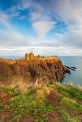 Dunnottar Castle from the cliff tops, near Stonehaven