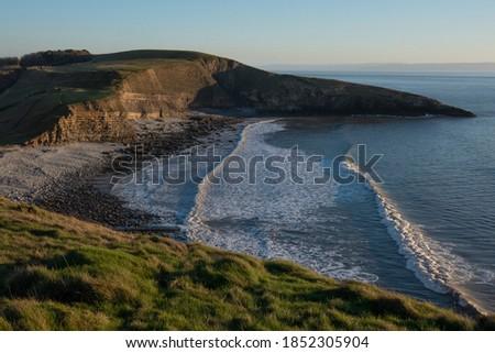 Dunraven Bay, Jurassic Lias Limestone, Glamorgan Heritage Coast, Vale of Glamorgan Foto stock ©