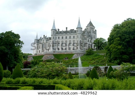 Dunrobin Castle, Highlands, Scotland In Springtime
