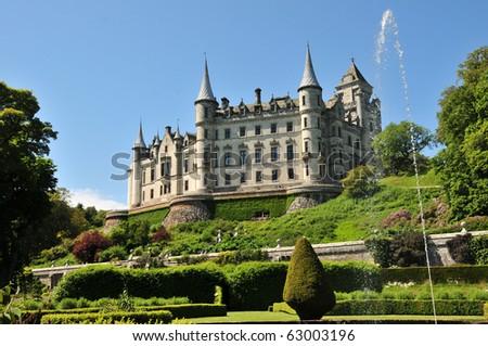 Dunrobin Castle in Sutherland Scotland
