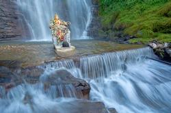 Dunsinane waterfall.  Dunsinane waterfall is a beautiful waterfall in Nuwara Eliya , Sri Lanka and the water fall is created by the river called Pundalu Oya which is a tributary of Kotmale Oya