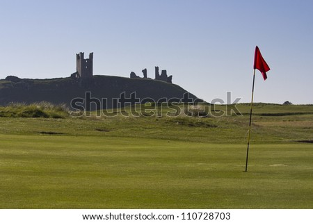 Dunstanburgh Castle from Golf Course