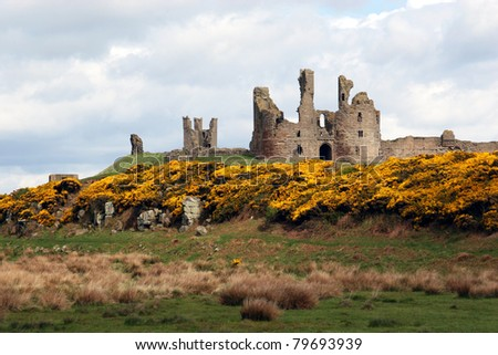 Dunstanburgh castle on the north east coast of the UK near Craster in Northumberland.