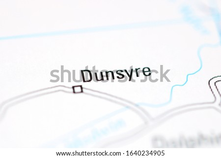 Dunsyre on a geographical map of UK