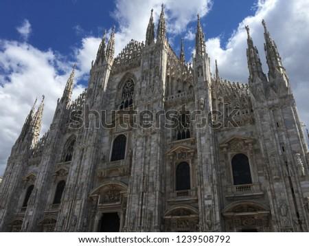 Duomo di Milano and city of Milano, Italy #1239508792