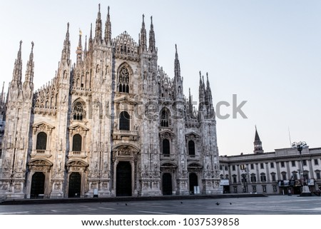 Duomo Milano, Milan's Cathedral, Gothic style and architecture, Italy #1037539858