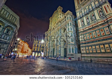 duomo piazza in Florence - stock photo