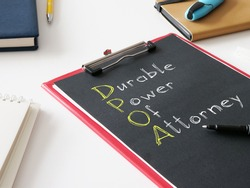 Durable Power of Attorney dpoa is shown on the photo using the text