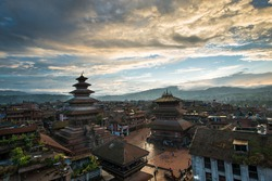 Durbar Square  before the earthquake in Nepal