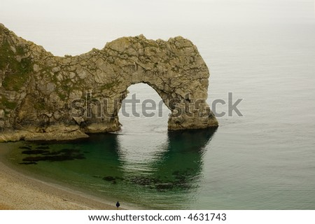 Durdle door a natural arch in the rock on the southwest coast of England in the county of Dorset