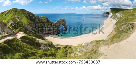 Durdle Door Panorama, Dorset Coast, UK