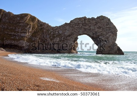 Durdle Door the nature arch on Jurassic coast in Dorset England