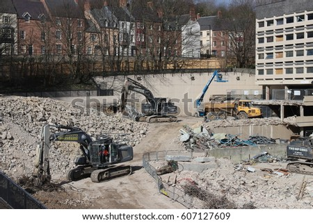 Durham U K 21st March 2017 New Milburngate Construction