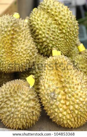 Durians at market