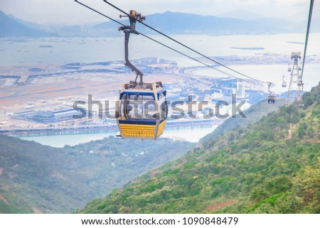 During the 25 minute journey, travellers can see panoramic views over the North Lantau Country Park, Hong Kong International Airport, Ngong Ping Plateau and surrounding terrain and waterways.