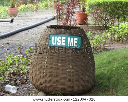 Dusbin to Use Me in the garden