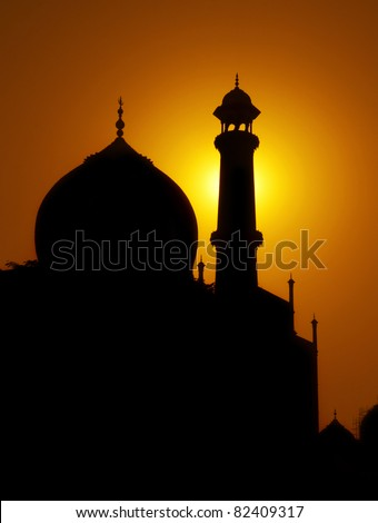 Dusk at the Taj Mahal, Agra, India