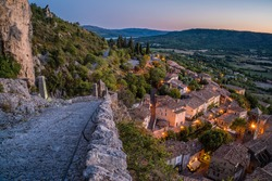 Dusk in Moustiers Sainte Marie