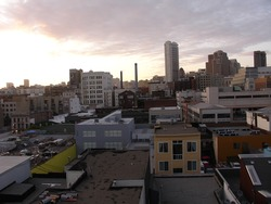 Dusk in SOMA, San Francisco.