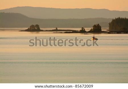 Dusk In the Gulf of Alaska Wilderness