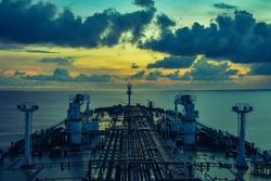 Dusk view from VLCC ship
