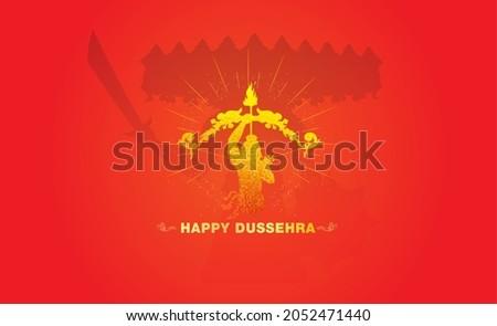Dussehra vijayadashami festival celebration concept with ram and ravan fight