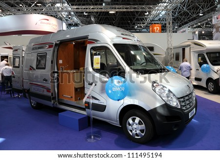 DUSSELDORF - AUGUST 27: Rimor Horus camper van at the Caravan Salon Exhibition 2012 on August 27, 2012 in Dusseldorf, Germany - stock photo