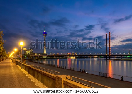 Dusseldorf downtown, Dusseldorf downtown at night, Dusseldorf altstadt, Dusseldorf downtown at night and day time #1456076612