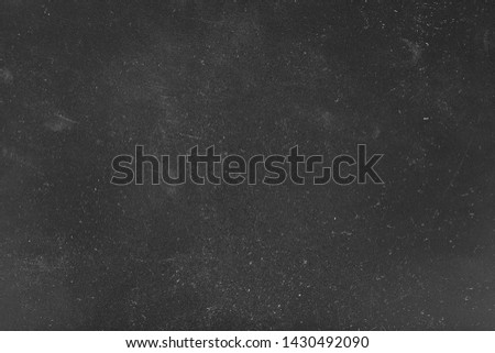 Dust and scratches design. Black abstract background. Vintage decorative overlay. Copy space.