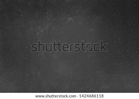 Dust and scratches design. Black abstract background. White lights effect. Copy space.