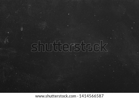 Dust and scratches design. Black grunge abstract background. Distressed surface. Copy space.