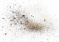 dust isolated on white background, with clipping path