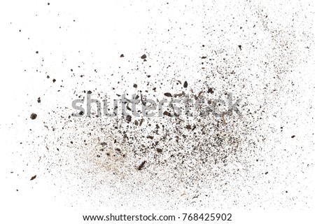 dust isolated on white background, with clipping path #768425902