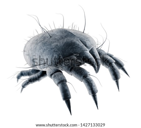 Dust mite in bed - 3D illustration Stock photo ©