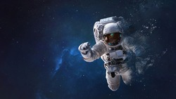Dust of astronaut in outer space. Abstract space wallpaper. Elements of this image furnished by NASA