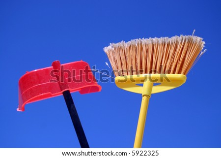 dust-pan and broom