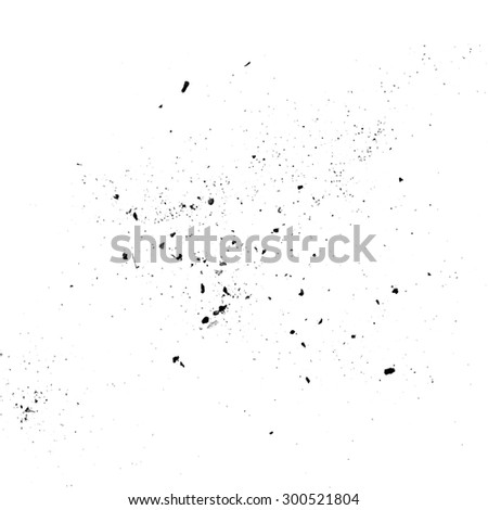 Dust particle and dirt textures on a white background