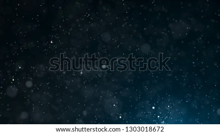 Dust particles. Abstract background of particles. Cosmic galaxy illustration. 3d rendering.
