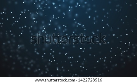 Dust particles. Abstract background of particles. Fantastic llustration. 3d rendering.