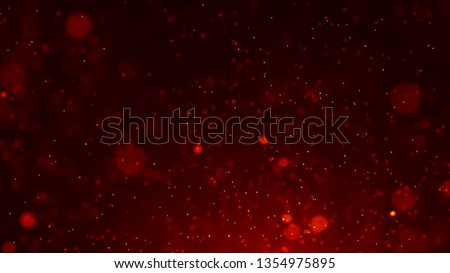 Dust particles. Abstract background of particles. Fire flying sparks. 3d rendering.