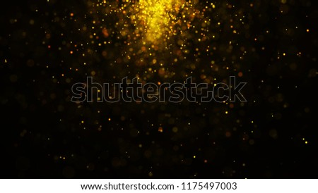 Dust particles. Abstract particle background. Particle explosion. Dots background. 4k rendering.