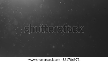 dust particles fly in the air over black background with light leak, 4k photo #621706973