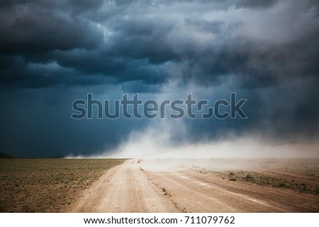 Stock Photo Dust Storm in Mongolia