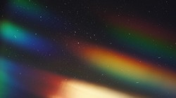 Dusted Holographic Abstract Multicolored Backgound Photo Overlay, Screen Mode for Vintage Retro Looking, Rainbow Light Leaks Prism Colors, Trend Design Creative Defocused Effect, Blurred Glow Vintage
