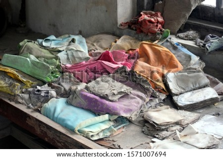 dusty and riped clothes after Merapi eruption