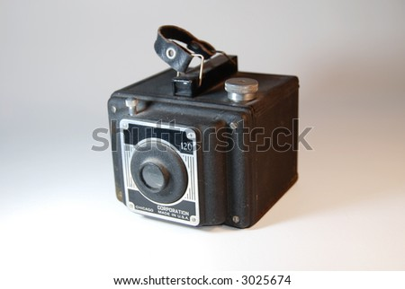 Dusty Antique Camera Time Traveler 120 shallow depth of field--isolated version available
