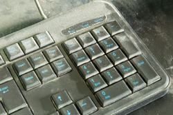Dusty keyboard extreme , Dirty Computer Keyboard Unwashed Hands Hygiene