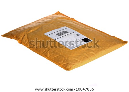 Dusty Old Mail Package Isolated